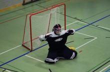 Unihockey-WM 2014/2015: Torhüter Düdä.